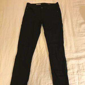 AG black cigarette jeans size 28